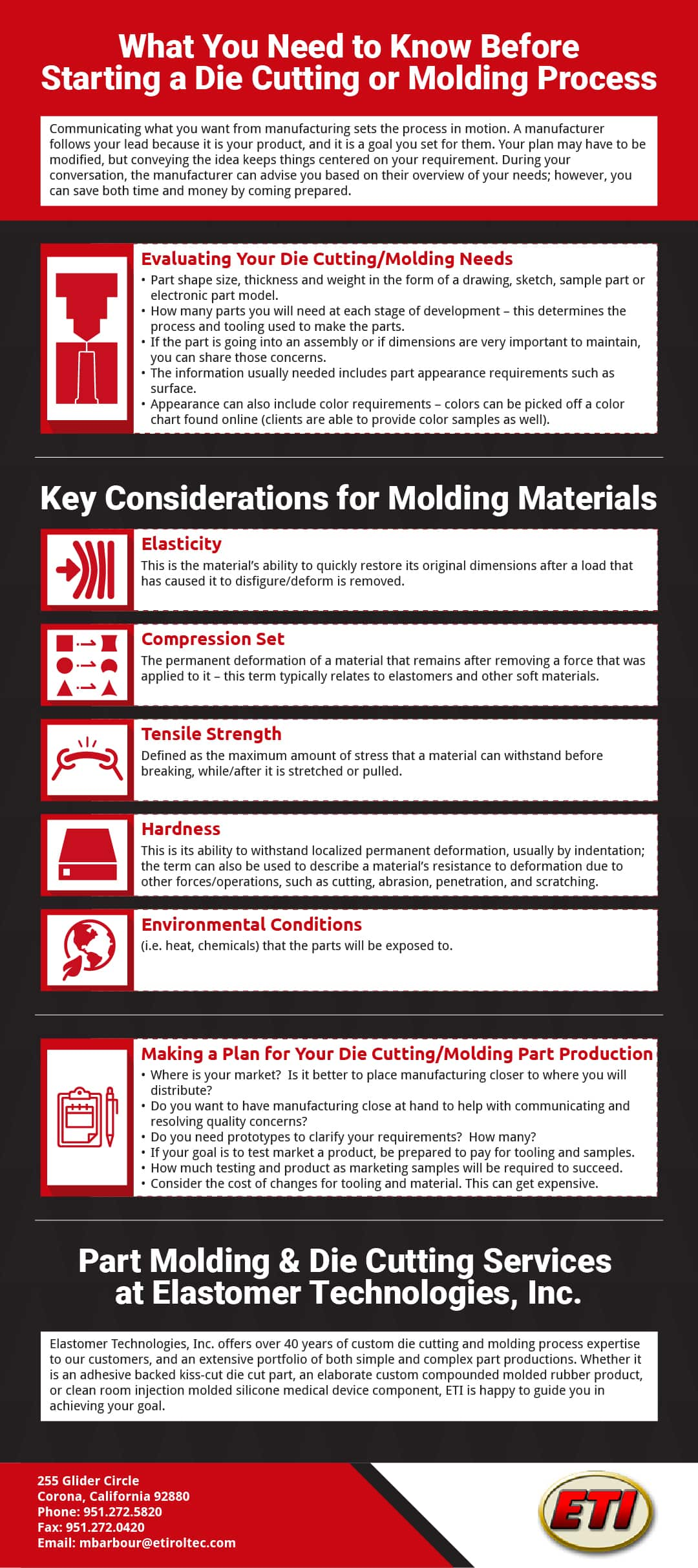 What You Need to Know Before Starting a Die Cutting or Molding Process